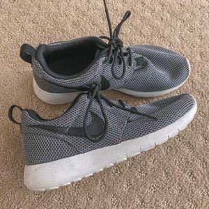 Grey and Black Nike Roshe Runs